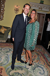 JAKE PARKINSON-SMITH and his wife SAMIRA at Tatler's Jubilee Party in association with Thomas Pink held at The Ritz, Piccadilly, London on 2nd May 2012.