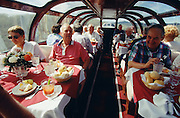 "South Orient Express. Dome dining car ""Maroon Bells""."
