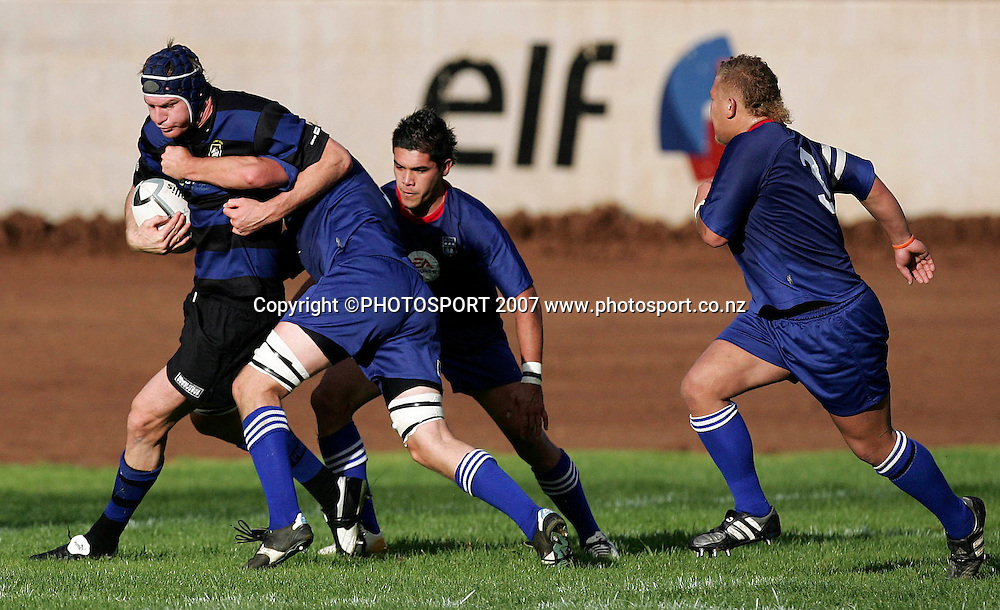 Ponsonby's Ali Williams in action during the Premier Club Rugby Union match between Ponsonby and University at Western Springs Stadium, Auckland, New Zealand on Saturday 12 May 2007. Ponsonby won the match 77 - 0. Photo: Hagen Hopkins/PHOTOSPORT<br /><br /><br /><br />120507
