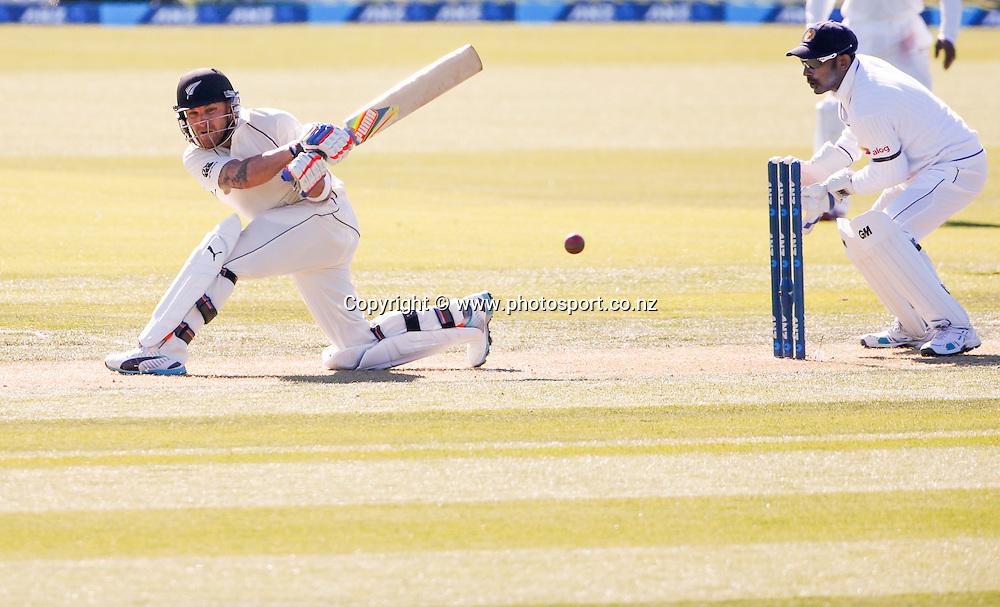 Brendon McCullum. First day, ANZ Boxing Day Cricket Test, New Zealand Black Caps v Sri Lanka, 26 December 2014, Hagley Oval, Christchurch, New Zealand. Photo: John Cowpland / photosport.co.nz