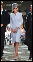 The Duke and Duchess of Cambridge arriving at the Easter Sunday Church Service at St.Andrew's Cathedral in Sydney, Australia, Sunday, 20th April 2014. Picture by Stephen Lock / i-Images