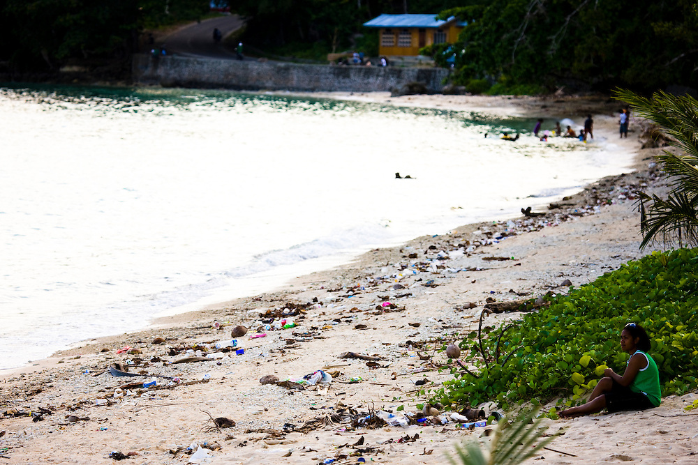 Garbage and waste litters a beach at Manokwari, Papua, Indonesia, Sept. 10, 2008..Daniel Beltra/Greenpeace