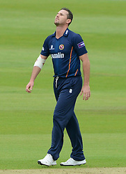 Shaun Tait of Essex cuts a dejected figure - Photo mandatory by-line: Dougie Allward/JMP - Mobile: 07966 386802 - 24/05/2015 - SPORT - Cricket - Bristol - County Ground - Gloucestershire v Essex Eagles - LV=County Cricket