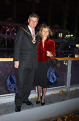 The Mayor & Mayoress of the Royal Borough of Kensington & Chelsea Councillor & MRS TIM AHERN at the opening of the Natural History Museum's ice rink, Cromwell Road, London on 14th November 2006.<br />