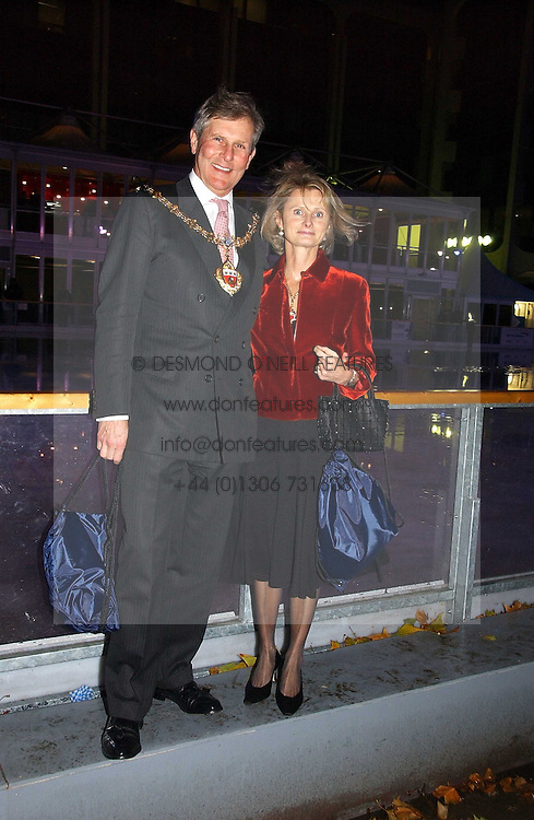 The Mayor & Mayoress of the Royal Borough of Kensington & Chelsea Councillor & MRS TIM AHERN at the opening of the Natural History Museum's ice rink, Cromwell Road, London on 14th November 2006.<br /><br />NON EXCLUSIVE - WORLD RIGHTS