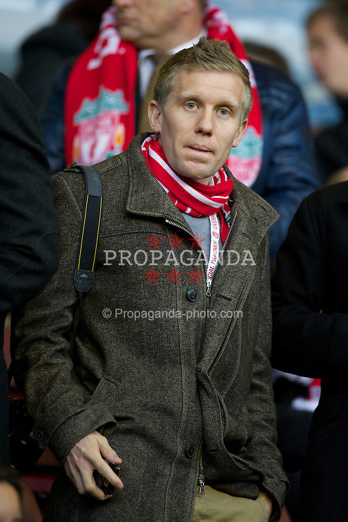 LIVERPOOL, ENGLAND - Sunday, November 27, 2011: Thomas Cook's xxxx in the Director's Box during the Premiership match against Manchester City at Anfield. (Pic by David Rawcliffe/Propaganda)
