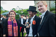 DR. ROSE CHRISTOPHER; ADAM BEED; RICHARD WHITE, The Tercentenary Ball, Worcester College. Oxford. 27 June 2014