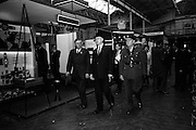05/05/1965<br /> 05/05/1965<br /> 05 May 1965<br /> President Eamon de Valera visits the RDS Spring Show at Ballsbridge Dublin. President de Valera passing theWills Tobacco stand at the RDS during his tour. Mr. J. Meenan, M.A. BL., Chairman of the Executive Committee of the RDS is on the left.