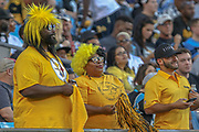 Pittsburgh Steelers fans during a NFL football game against the Carolina Panthers, Thursday, Aug. 29, 2019, in Charlotte, N.C. The Panthers defeated the Steelers 25-19.  (Brian Villanueva/Image of Sport)