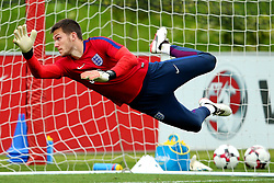 England and Newcastle United goalkeeper Freddie Woodman makes a save - Mandatory by-line: Matt McNulty/JMP - 29/08/2017 - FOOTBALL - St George's Park National Football Centre - Burton-upon-Trent, England - England Training and Press Conference