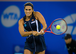 September 26, 2018 - Monica Puig of Puerto Rico in action during her third-round match at the 2018 Dongfeng Motor Wuhan Open WTA Premier 5 tennis tournament (Credit Image: © AFP7 via ZUMA Wire)