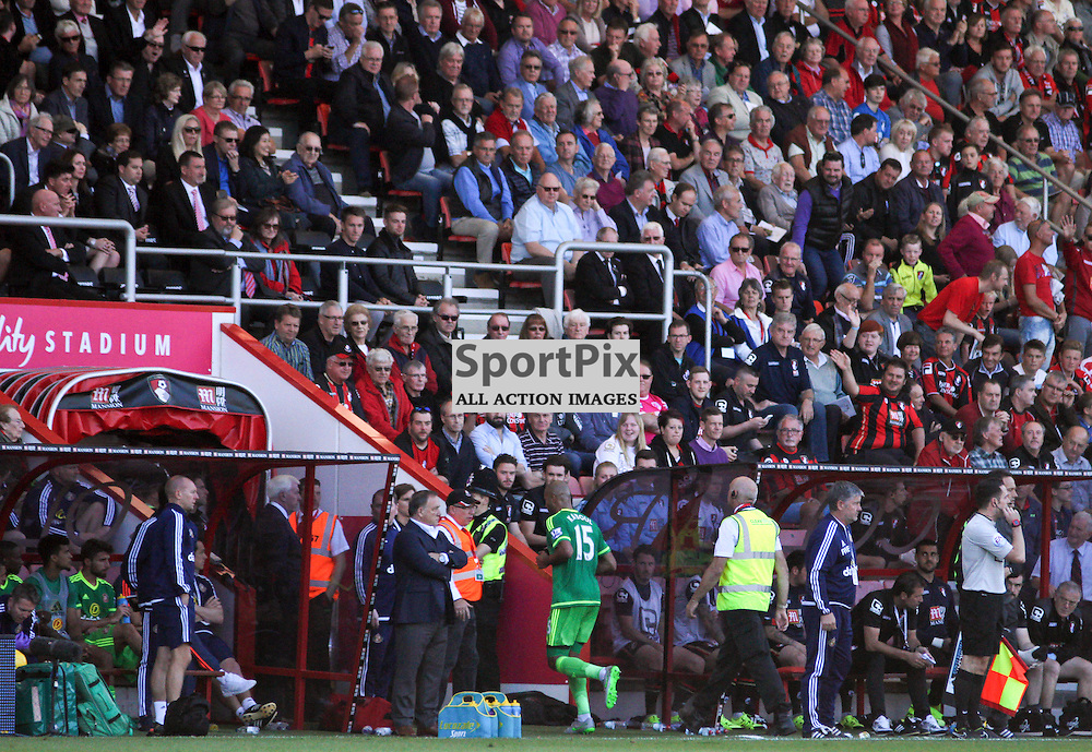Younes Kaboul is sent off During Bournemouth vs Sunderland on Saturday 19th September 2015.