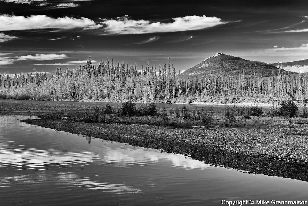 Ogilvie River and the Richardson Mountains along the Dempster<br />