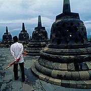 Borobudur temple.Java.Indonesia.