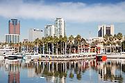 Downtown Long Beach At Rainbow Harbor
