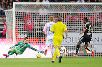 Goal David NGOG - 09.05.2015 -  Evian Thonon / Reims  - 36eme journee de Ligue 1<br />