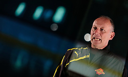 10.08.2015, Red Bull Akademie Liefering, Salzburg, AUT, EBEL, Medien Tag, im Bild Trainer Jim Boni (Vienna Capitals) // during the Erste Bank Icehockey League Media Day at the Red Bull Football and Icehockey Academy Liefering in Salzburg, Austria on 2015/08/10. EXPA Pictures © 2015, PhotoCredit: EXPA/ JFK