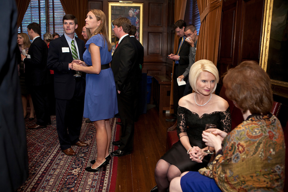 Callista Gingrich, wife of former Speaker of the House Newt Gingrich, second from right, attends a screening of the movie A City Upon A Hill, which she hosts with her husband, on Friday, April 29, 2011 in Washington, DC.
