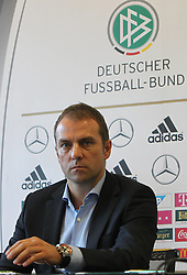 18.10.2013, DFB Zentrale, Frankfurt, GER, DFB Pressekonferenz, im Bild der zukuenftige Sportdirektor Hansi Flick // during the DFB press conference to extend the contract of national coach Joachim Loew in the DFB headquarters in Frankfurt on 2013/10/18. EXPA Pictures © 2013, PhotoCredit: EXPA/ Eibner-Pressefoto/ RRZ<br /> <br /> *****ATTENTION - OUT of GER*****