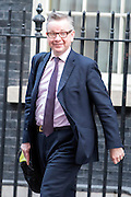 © Licensed to London News Pictures. 04/03/2015. Westminster, UK Michael Gove, Conservative Politician, leaves Number 10 Downing Street today 4th March 2015. Photo credit : Stephen Simpson/LNP