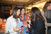 MRS AIDEN BARCLAY; MONICA BURMAN, Smythson Sloane St. Store opening. London. 6 February 2012.