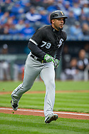 March 29, 2018 - Kansas City, MO, U.S. - KANSAS Kansas City, MO - MARCH 29: Chicago White Sox first baseman Jose Abreu (79) rounds the bases after hitting a home run during the major league opening day game against the Kansas City Royals on March 29, 2018 at Kauffman Stadium in Kansas City, Missouri. (Photo by William Purnell/Icon Sportswire) (Credit Image: © William Purnell/Icon SMI via ZUMA Press)