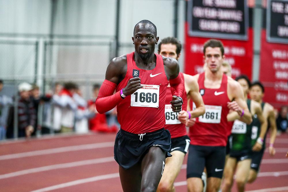 David Hemery Valentine Invitational<br /> Indoor Track & Field at Boston University , mens 5000 meters, Bowerman TC, Nike,