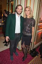 JOSEPH & SABINE GETTY at a reception and talk in honour of the late Loulou de La Falaise hosted by CLIC Sargent held at The Ritz, Piccadilly, London on 2nd November 2015.