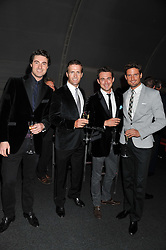 Jules Knight, Ollie Baines, Stephen Bowman and Humphrey Berney of Blake at the inaugural Gabrielle's Gala in London in aid of Gabrielle's Angel Foundation for Cancer Research held at Battersea Power Station, London on 7th June 2012.