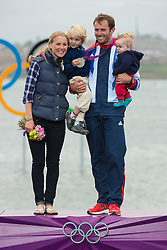 2012 Olympic Games London / Weymouth<br /> RSX Medal Ceremonies<br /> Dempsey Nick, (GBR, RS:X Men) with family
