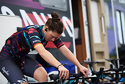 Lisa Klein (GER) warms up at Ladies Tour of Norway 2018 Team Time Trial, a 24 km team time trial from Aremark to Halden, Norway on August 16, 2018. Photo by Sean Robinson/velofocus.com