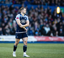 Hallam Amos of Cardiff Blues<br /> <br /> Photographer Simon King/Replay Images<br /> <br /> Guinness PRO14 Round 9 - Cardiff Blues v Dragons - Thursday 26th December 2019 - Cardiff Arms Park - Cardiff<br /> <br /> World Copyright © Replay Images . All rights reserved. info@replayimages.co.uk - http://replayimages.co.uk