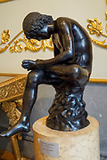 Boy with Thorn, also called Fedele (Fedelino) or Spinario at the State Hermitage Museum. A museum of art and culture in Saint Petersburg, Russia. The largest and oldest museum in the world, it was founded in 1754 by Catherine the Great and has been open to the public since 1852.