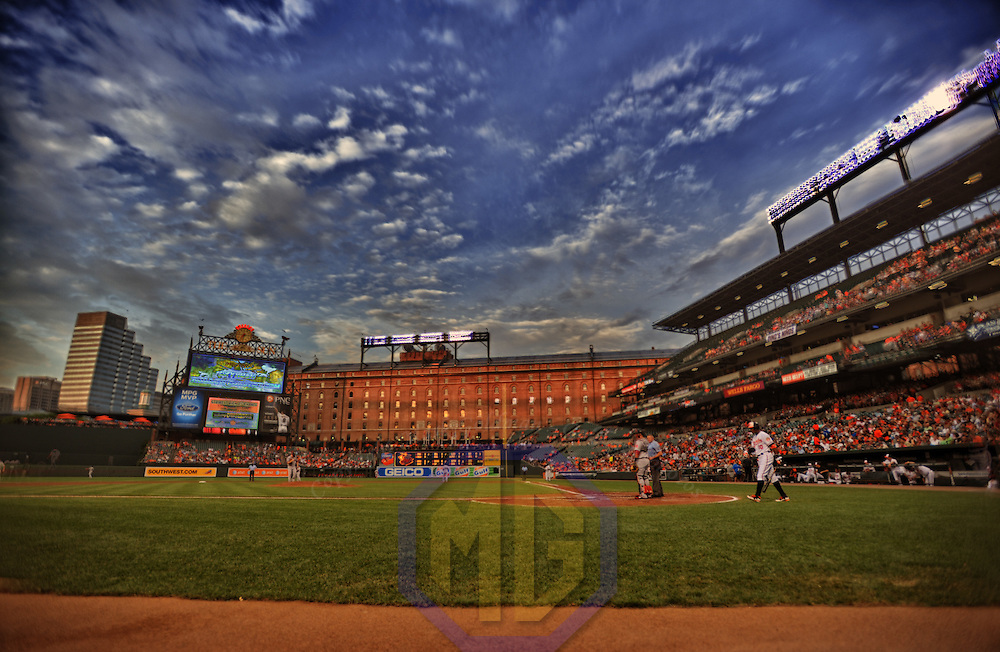 15 August 2012:  A 14 frame HDR image during the game at Camden Yards in Baltimore, MD. where Baltimore Orioles defeated the Boston Red Sox, 5-3.