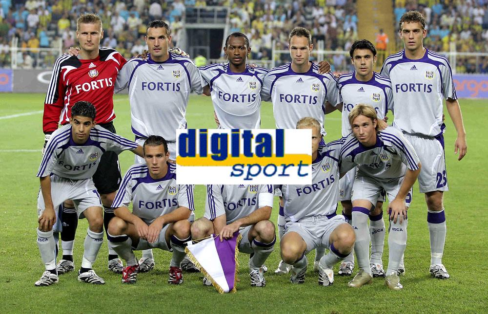 Fotball<br /> Belgia<br /> Kvalifisering UEFA Champions League<br /> 15.08.2007<br /> Fenerbahce v Anderlecht<br /> Foto: PhotoNews/Digitalsport<br /> NORWAY ONLY<br /> <br /> Lagbilde Anderlecht