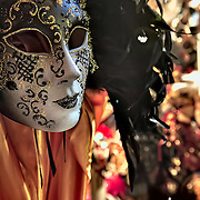artistic hand made tipical venetian masks