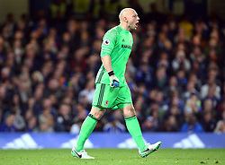 May 8, 2017 - Chelsea, Greater London, United Kingdom - Brad Guzan of Middlesbrough.during Premier League match between Chelsea and Middlesbrough at Stamford Bridge, London, England on 08 May 2017. (Credit Image: © Kieran Galvin/NurPhoto via ZUMA Press)