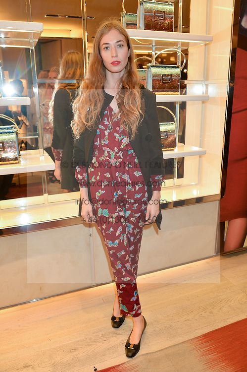 ANOUSKA BECKWITH at the Roger Vivier 'The Perfect Pair' Frieze cocktail party celebrating Ambra Medda & 'Miss Viv' at the Roger Vivier Boutique, Sloane Street, London on 15th October 2014.