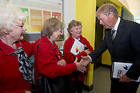 Monivea Age Action Peggy Collins,  Joyce Pitts and  Judy Feeney  with Micheál O'Mhuircheataigh  with at NUIG for the launch of the Galway Age Friendly Strategy, which sets out a plan to make Galway City and County a great place in which to grow up and grow old. The Strategy was developed following extensive consultation with older people across the city and county and aims to ensure that older people continue to be supported to play an active role in their communities. The launch of the strategy is an important milestone as it sets out a blueprint for how we will plan and develop communities in the coming years to ensure that Galway is a truly great place in which to grow up and grow old. Photo:Andrew Downes