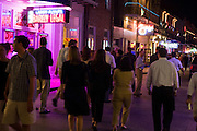 19 SEPTEMBER 2006 - NEW ORLEANS, LOUISIANA: Tourists on Bourbon Street in New Orleans. Photo by Jack Kurtz / ZUMA Press