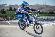 Men Elite #8 (RENCUREL Jeremy) FRA the 2018 UCI BMX World Championships in Baku, Azerbaijan.