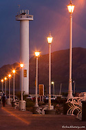 Lighthouse along the waterfront in Loreto Mexico