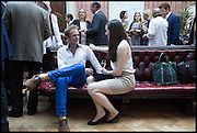 ALEXANDER BRADFORD; ALEXANDRA AMES KORNMAN, Drinks party to launch this year's Frieze Masters.Hosted by Charles Saumarez Smith and Victoria Siddall<br />  Academicians' room - The Keepers House. Royal Academy. Piccadilly. London. 3 July 2014