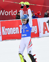 28.12.2017, Hochstein, Lienz, AUT, FIS Weltcup Ski Alpin, Lienz, Slalom, Damen, 2. Lauf, im Bild Bernadette Schild (AUT) // Bernadette Schild of Austria reacts after her 2nd run of ladie's Slalom of FIS ski alpine world cup at the Hochstein in Lienz, Austria on 2017/12/28. EXPA Pictures © 2017, PhotoCredit: EXPA/ Erich Spiess