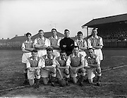 08/02/1959<br /> 02/08/1959<br /> 02 February 1959<br /> F.A.I. Intermediate Cup Final: Bray Wanderers v Albert Rovers at Rutland Avenue, Dublin.  The Bray Wanderers team.
