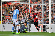 Dominic Solanke (9) of AFC Bournemouth scores a goal  during the Pre-Season Friendly match between Bournemouth and SS Lazio at the Vitality Stadium, Bournemouth, England on 2 August 2019.