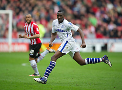 SHEFFIELD, ENGLAND - Saturday, March 17, 2012: Tranmere Rovers' Lucas Akins in action against Sheffield United during the Football League One match at Bramall Lane. (Pic by David Rawcliffe/Propaganda)
