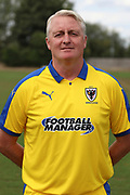 AFC Wimbledon Alan Reeves during the AFC Wimbledon 2018/19 official photocall at the Kings Sports Ground, New Malden, United Kingdom on 31 July 2018. Picture by Matthew Redman.
