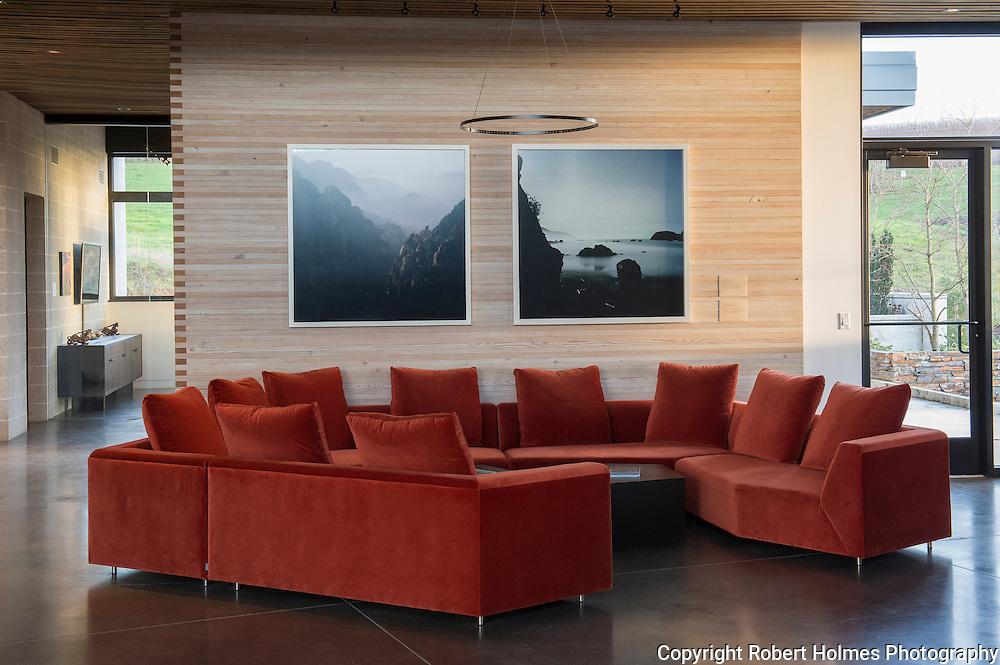 Saffron Fields Vineyard art, Yamhill-Carlton AVA, Willamette Valley, Oregon