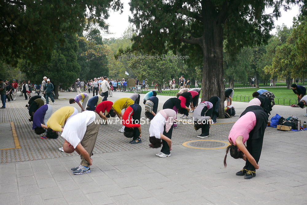 China, Beijing, Tai Chi in the park